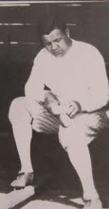 Babe Ruth boning his bat