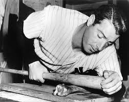 Joe DiMaggio boning his bat