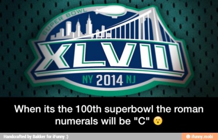 Roman numerals Super Bowl