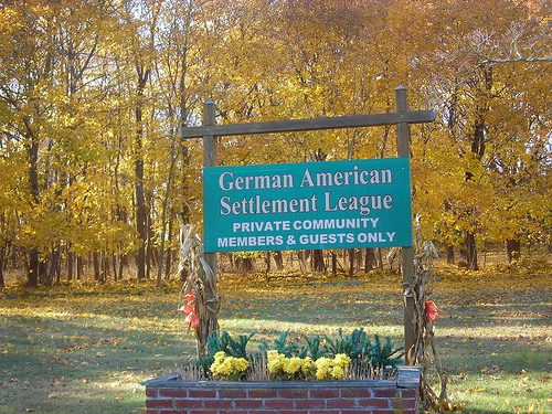 German American Settlement League Sign