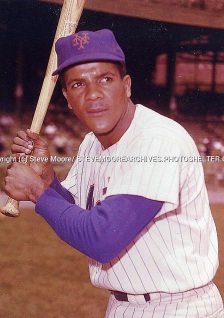 Elio Chacon (INF) Mets poses for a portrait before a game at the Polo Grounds / Early Shea Stadium, etc. He is a member of the 1962 Original N.Y. New York Mets