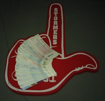 Foam Finger and tickets