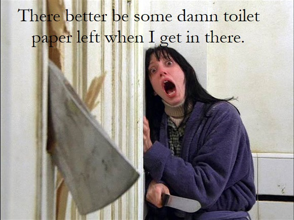 The Shining - Ax Scene - Toilet Paper