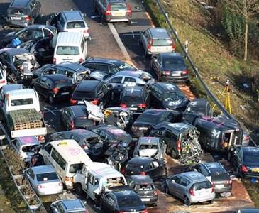 Crash on Autobahn