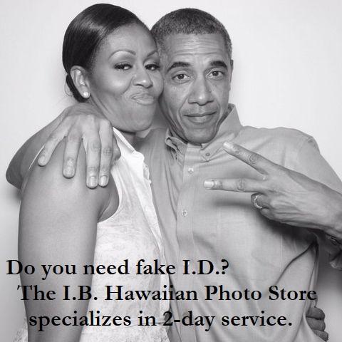 Obamas - Fake ID