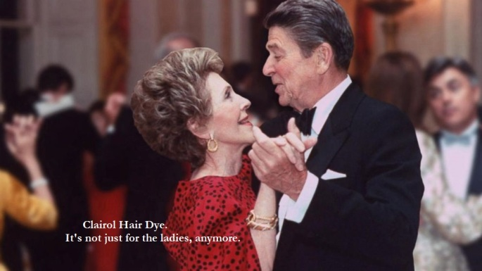 Ron and Nancy Reagan - Clairol